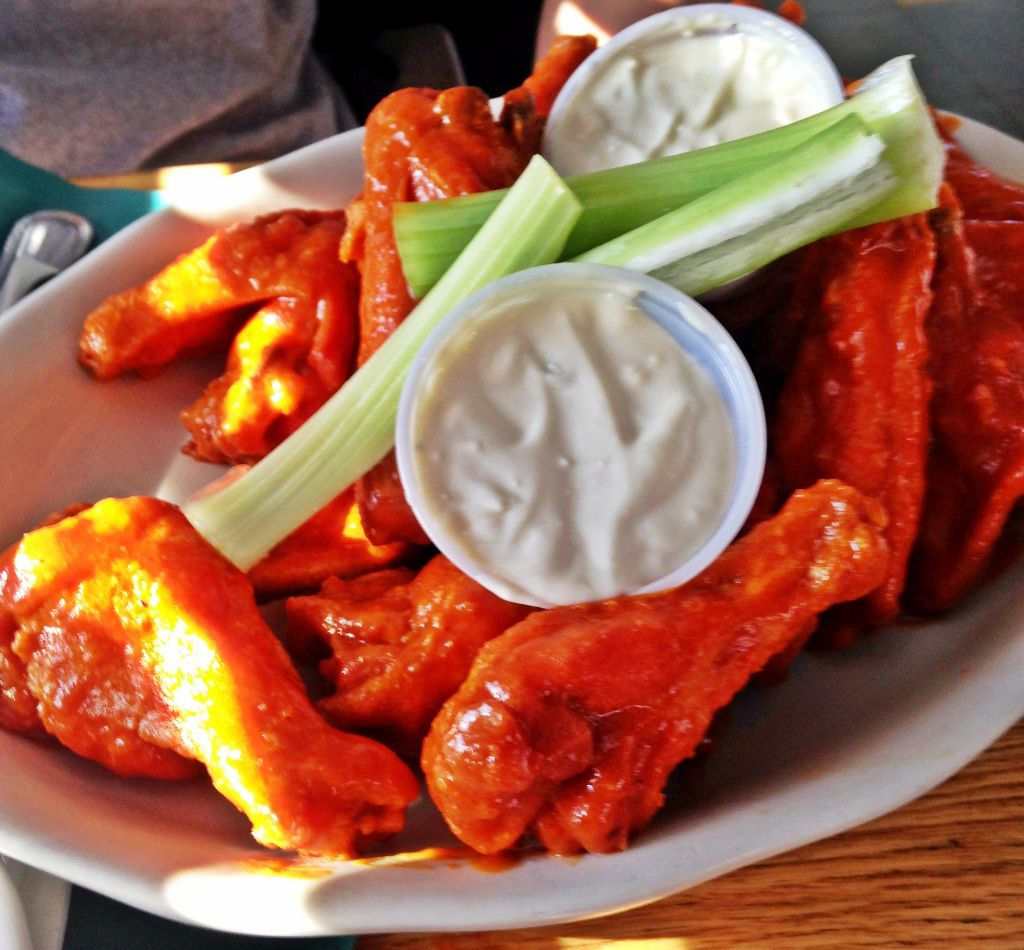 Buffalo wings at Candlelight Inn