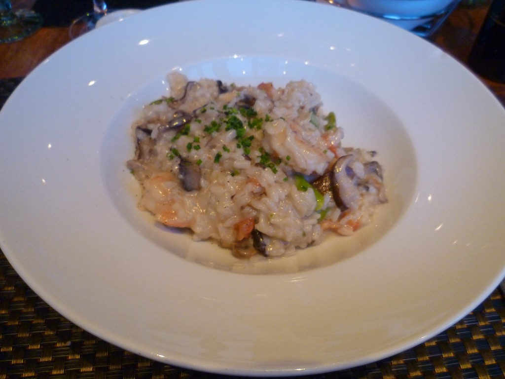 """""""Wild"""" Risotto with shrimp, mushrooms and asparagus"""