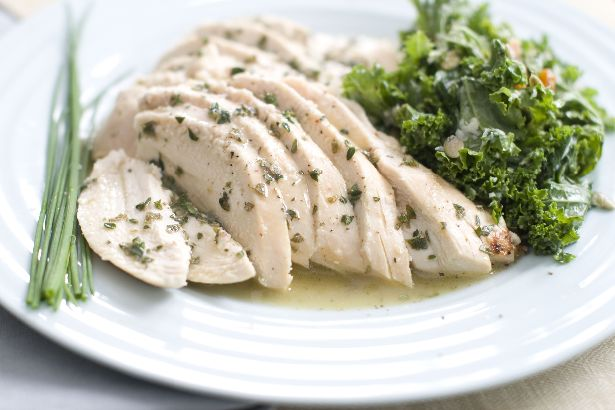 Roast Chicken With Fresh Herb Sauce