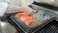 Salmon to be smoked