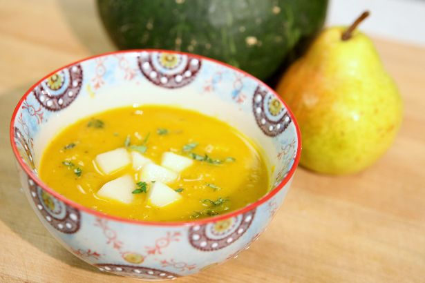 Kabocha Squash and Pear Soup: Seasonal Chef Recipe