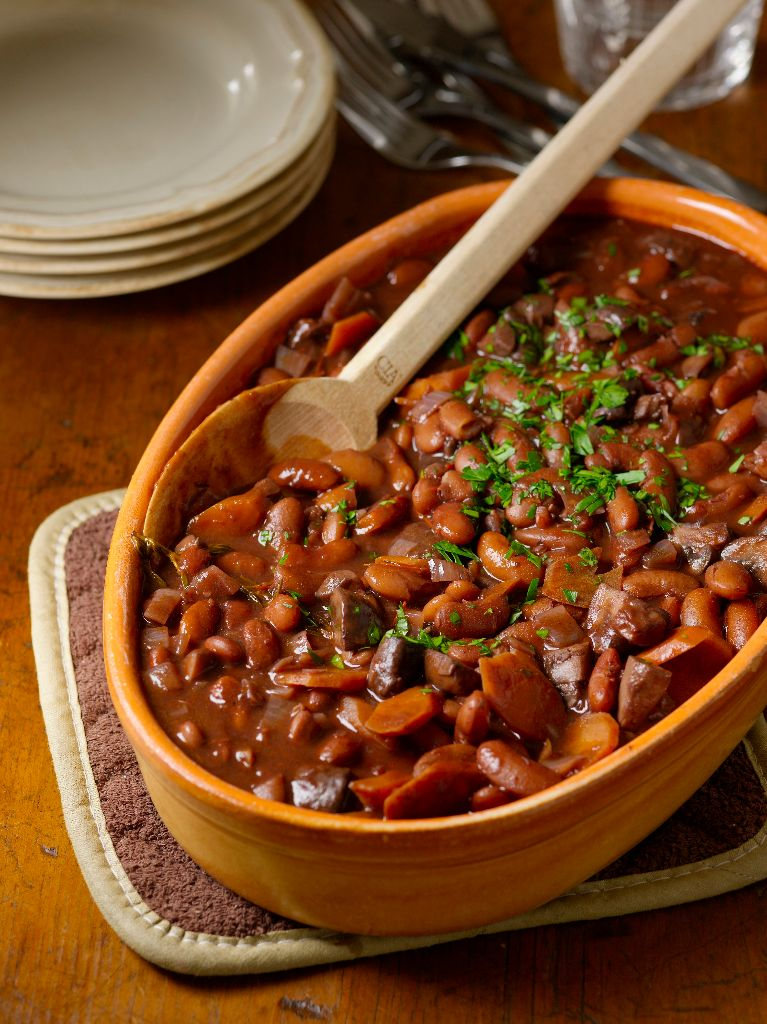 Secrets from the CIA: Beans Bourguignon, a Vegetarian Take